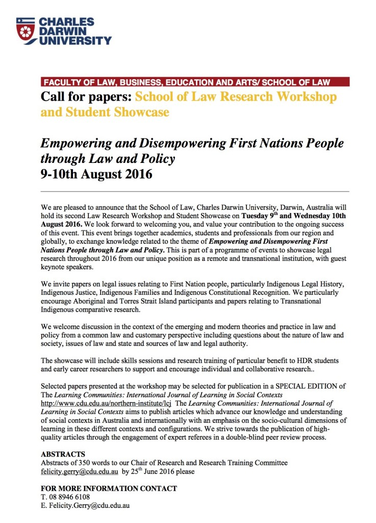 First Nation Workshop call for papers copy