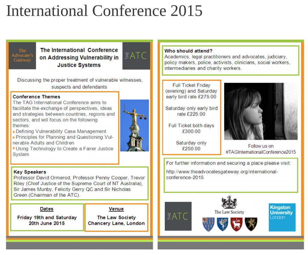 International conference 2015